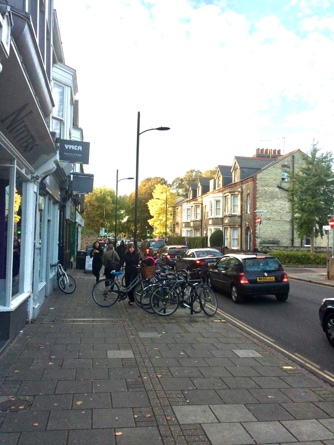 Cambridge England, walking home